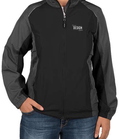 Core 365 Women's Colorblock Lightweight Full Zip Jacket - Black / Carbon