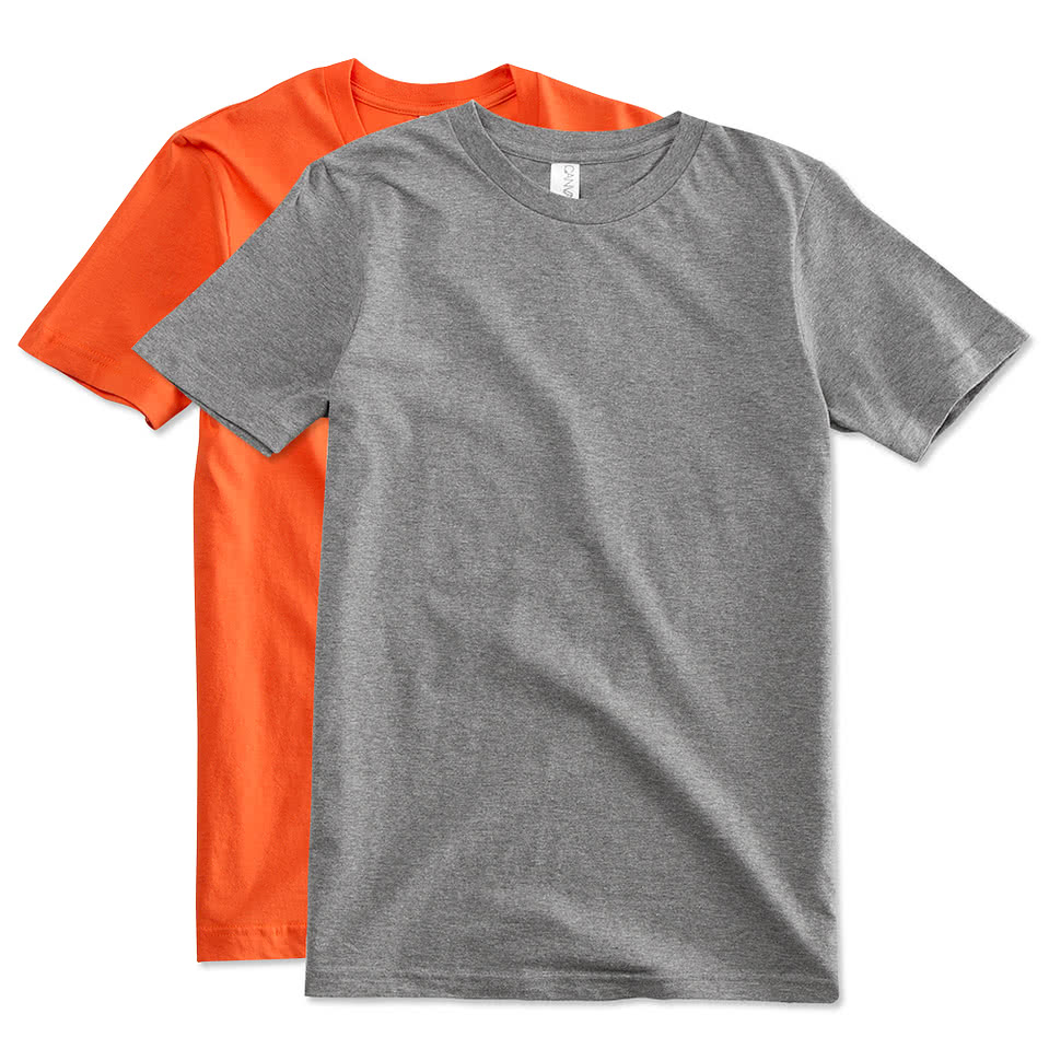 Custom canada canvas jersey t shirt design t shirts for Made t shirts online