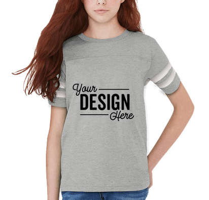 LAT Youth Varsity T-shirt - Vintage Heather / White