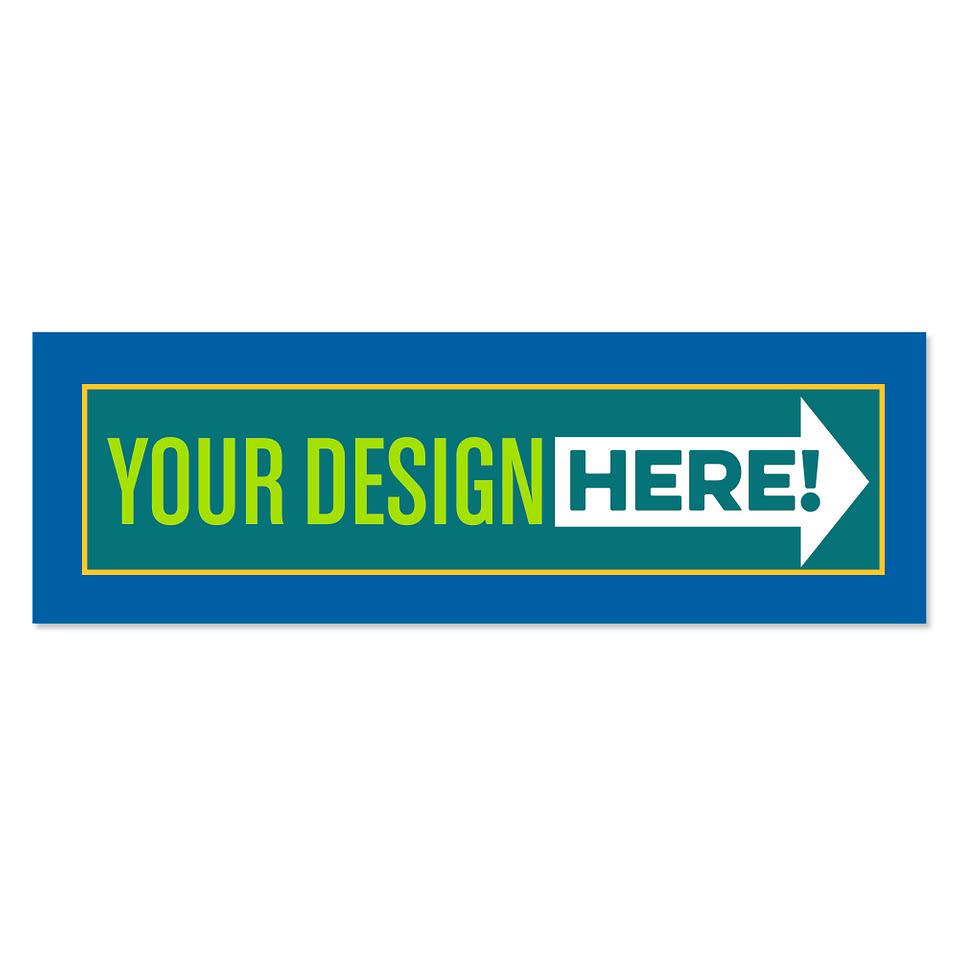 Rectangular bumper sticker