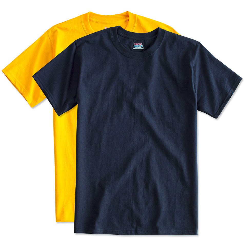 Design custom printed hanes beefy t shirts online at customink for Custom logo t shirts no minimum