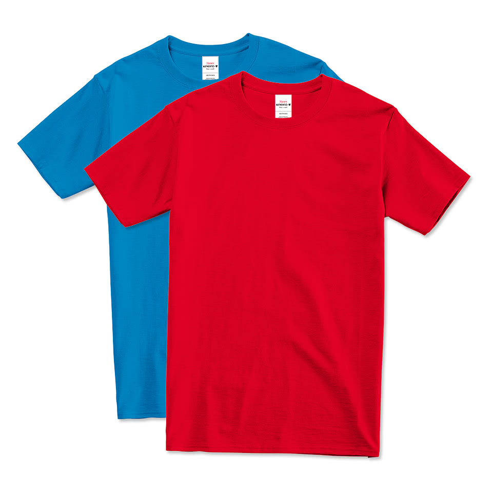 design custom printed hanes tagless t shirts online at