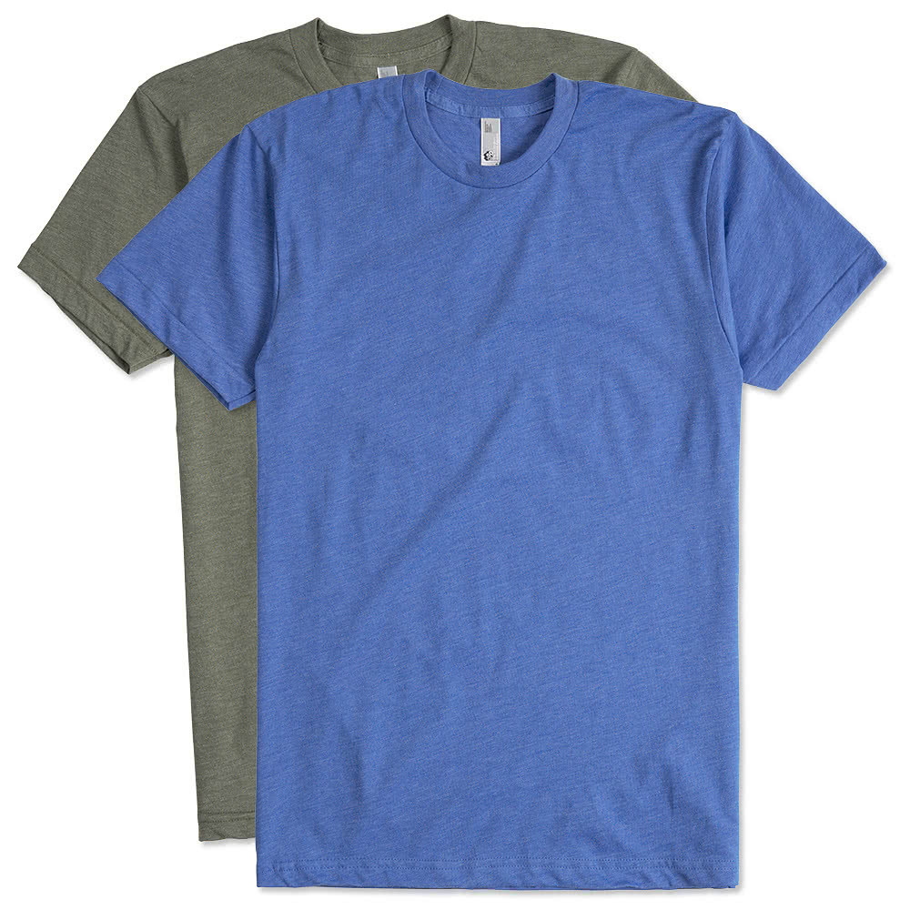 Design custom printed american apparel 50 50 t shirts for Make custom shirts online