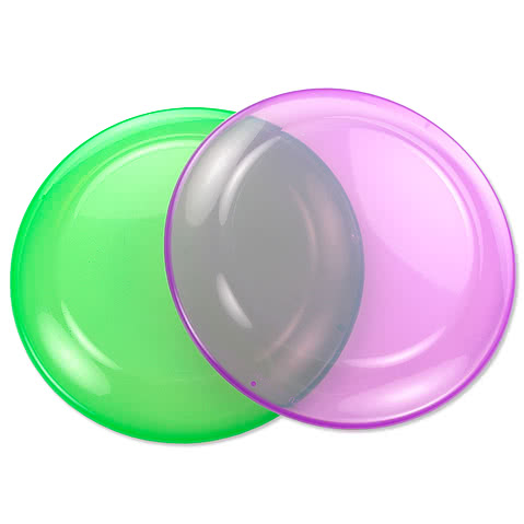 Transparent Frisbees