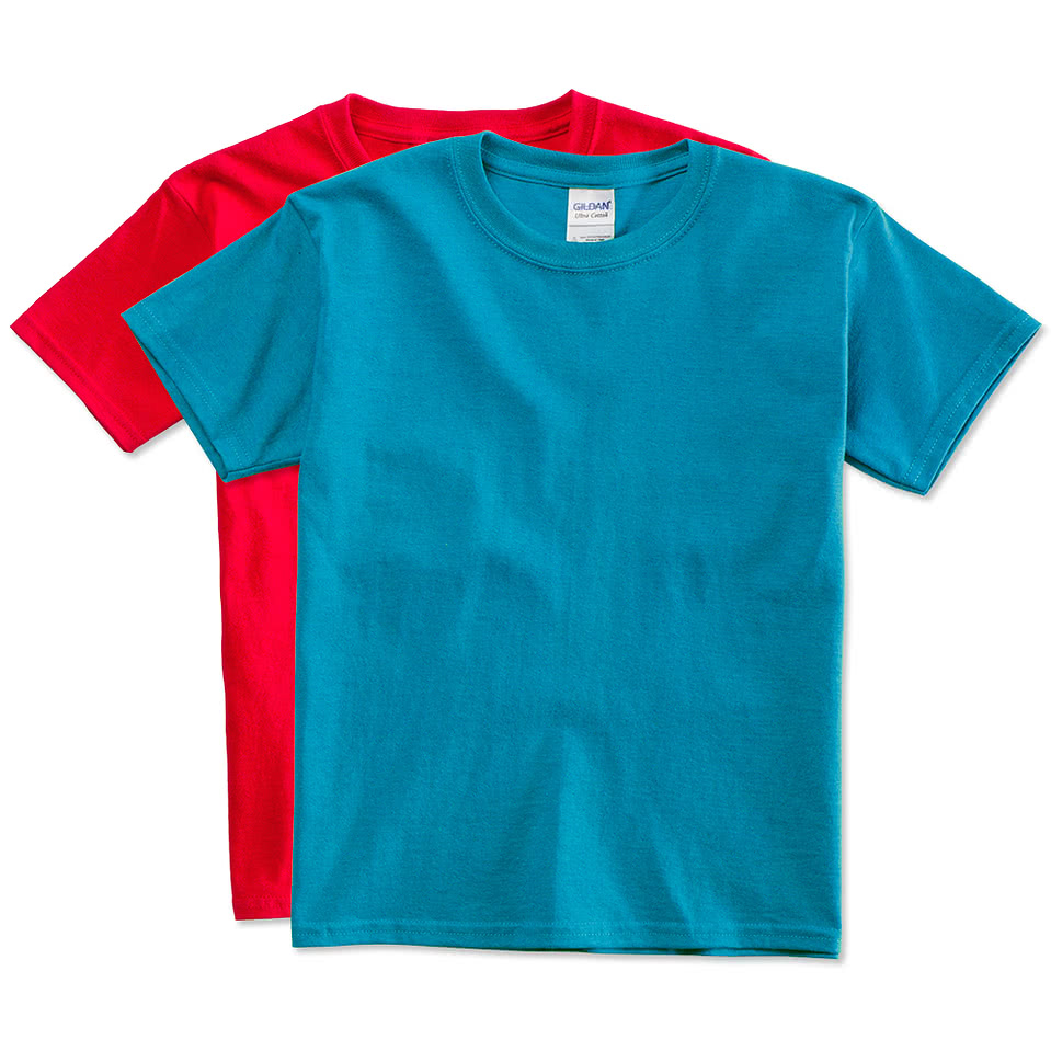 Gildan youth ultra cotton t shirts design custom kids t for Custom cotton t shirts