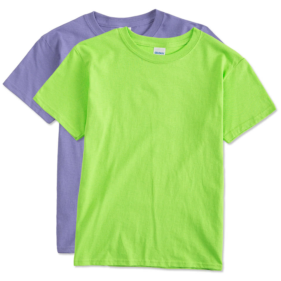 Gildan youth 100 cotton t shirt design custom kids for Custom cotton t shirts