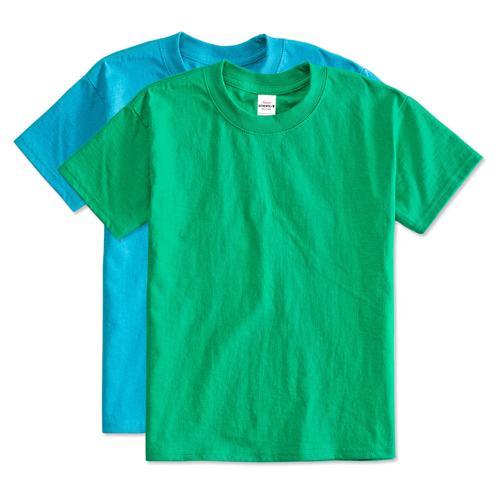 Hanes youth tagless t shirt design custom kids tagless tees for Custom t shirts one day delivery