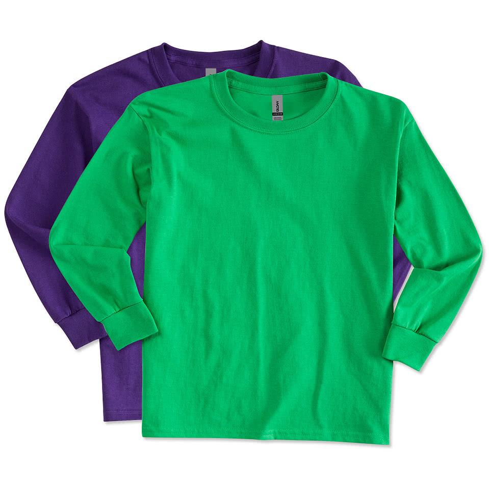 Gildan Youth Ultra Cotton Long Sleeve T - Custom Longsleeved T-Shirts