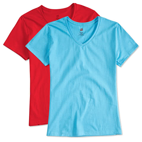 Hanes Ladies Tagless V-Neck T-shirt
