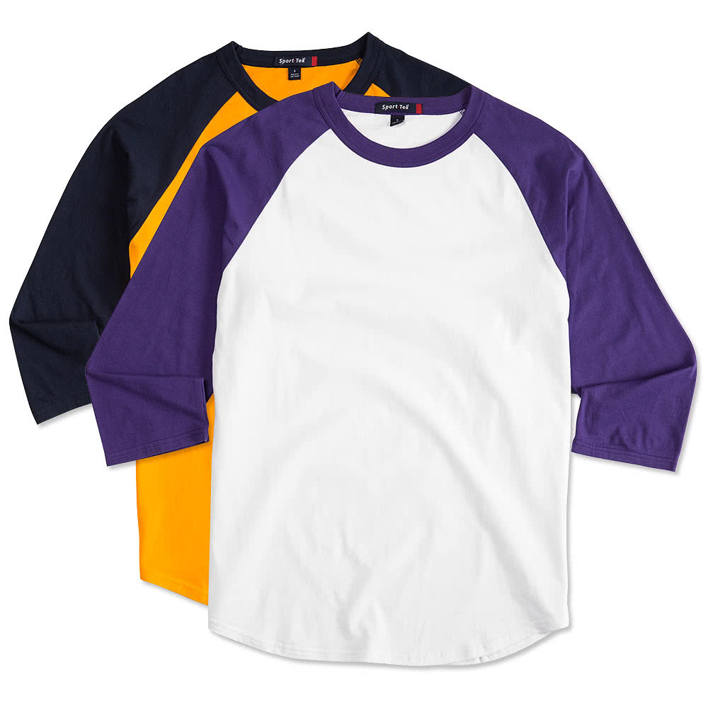 Custom sport tek baseball raglan design teamwear for Design lab create your own shirt