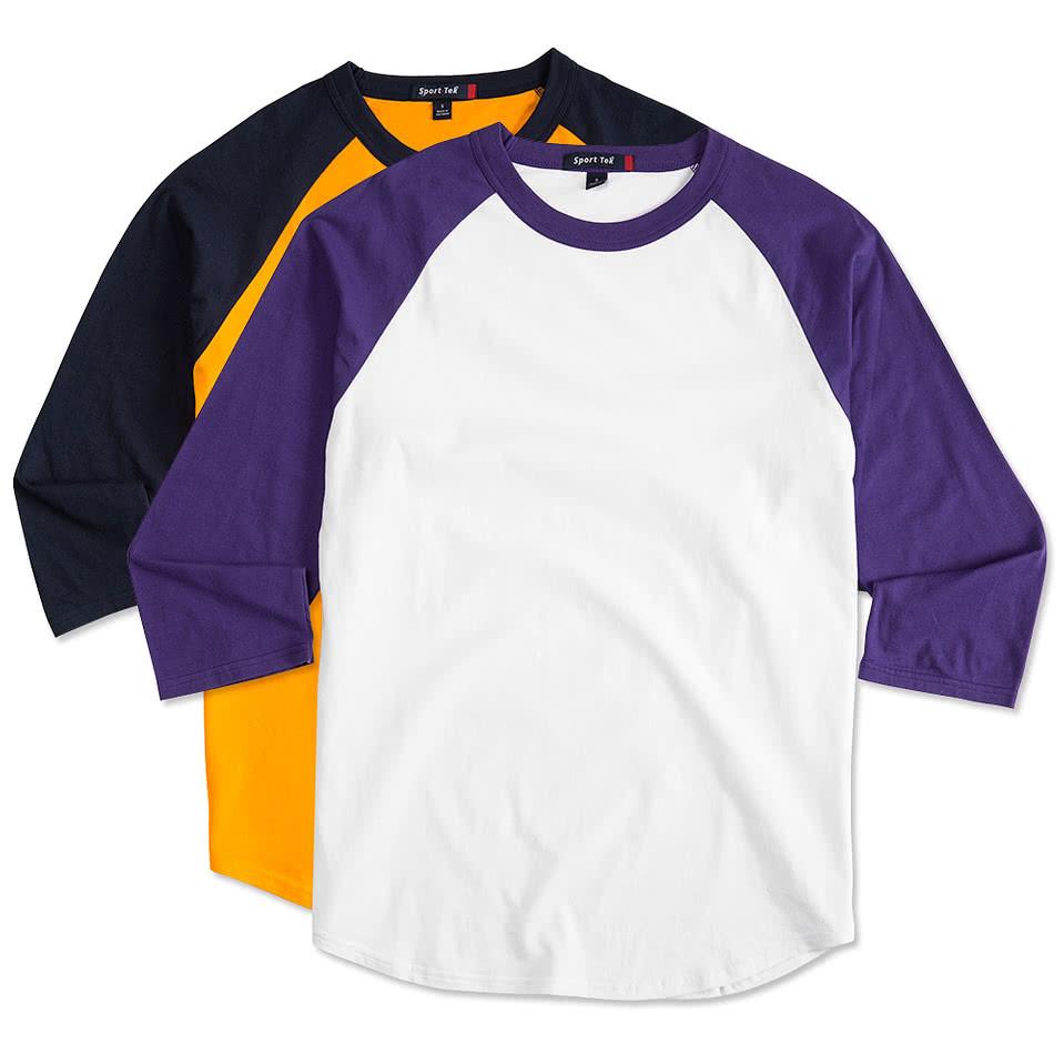 Custom sport tek baseball raglan design teamwear for Custom sports team shirts