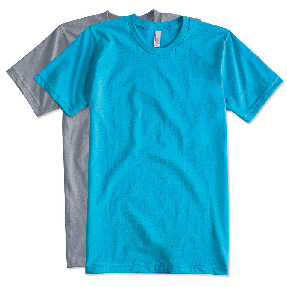 Design custom printed american apparel jersey t shirts for T shirt printers online
