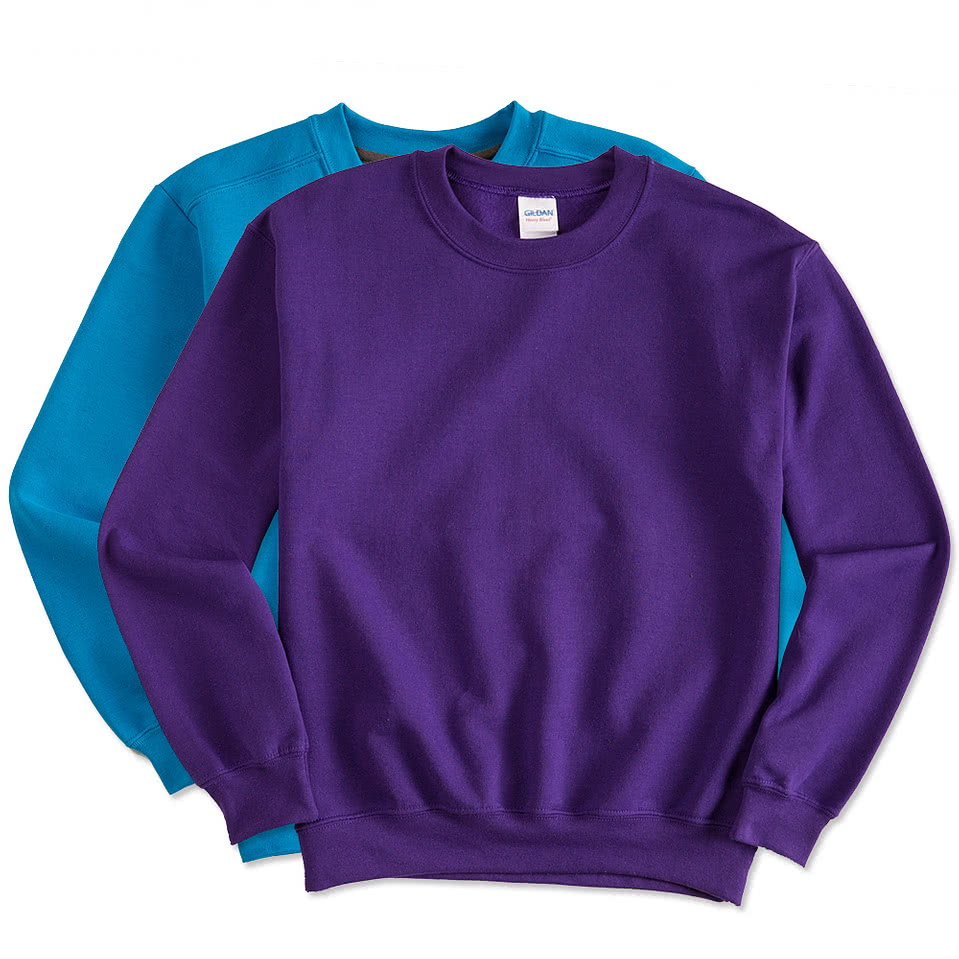 Design Custom Printed Gildan Lightweight Crewneck Sweatshirts ...
