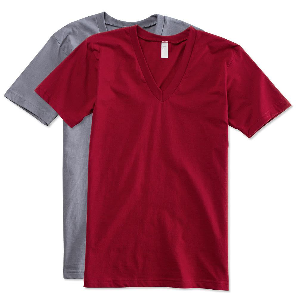 White for American apparel custom t shirt printing