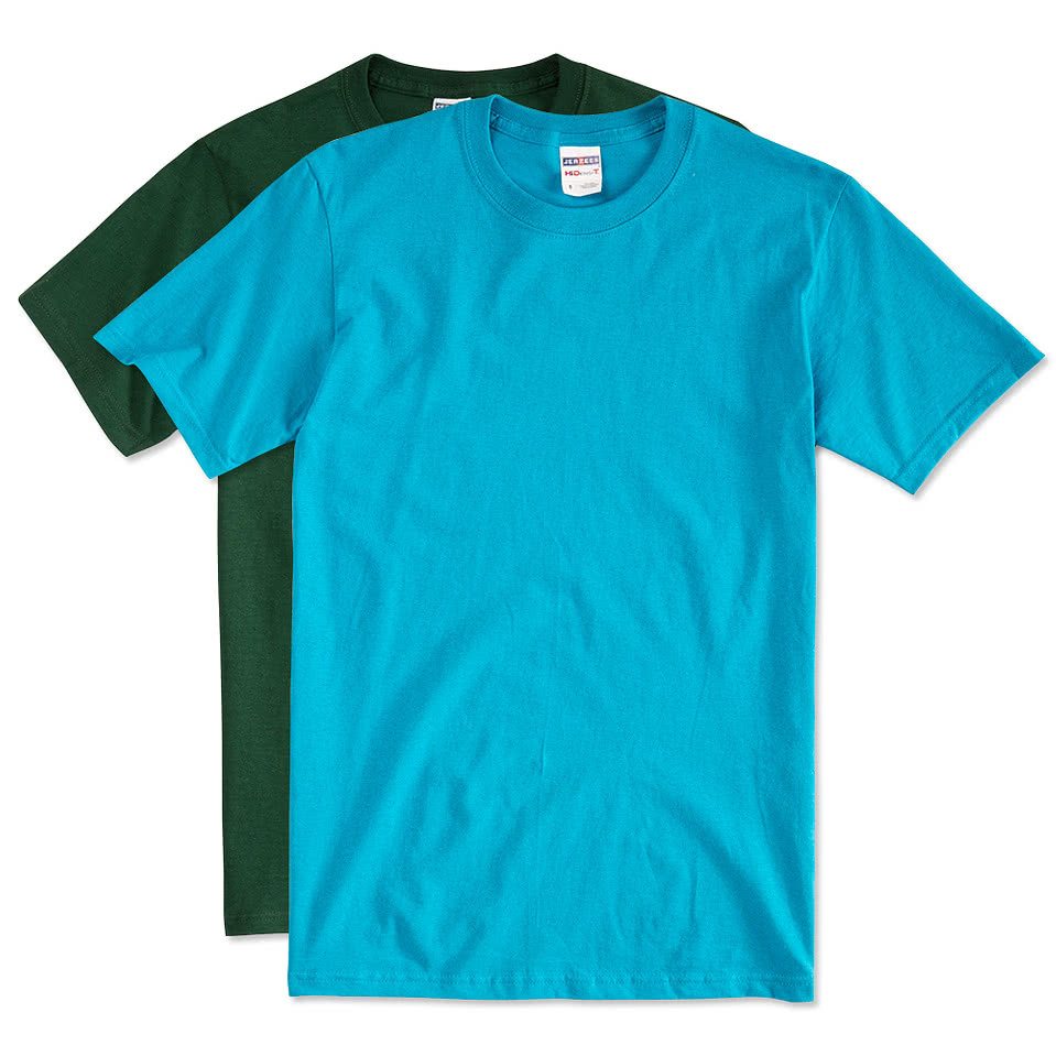 Custom jerzees lightweight 100 cotton t shirt design for Custom cotton t shirts