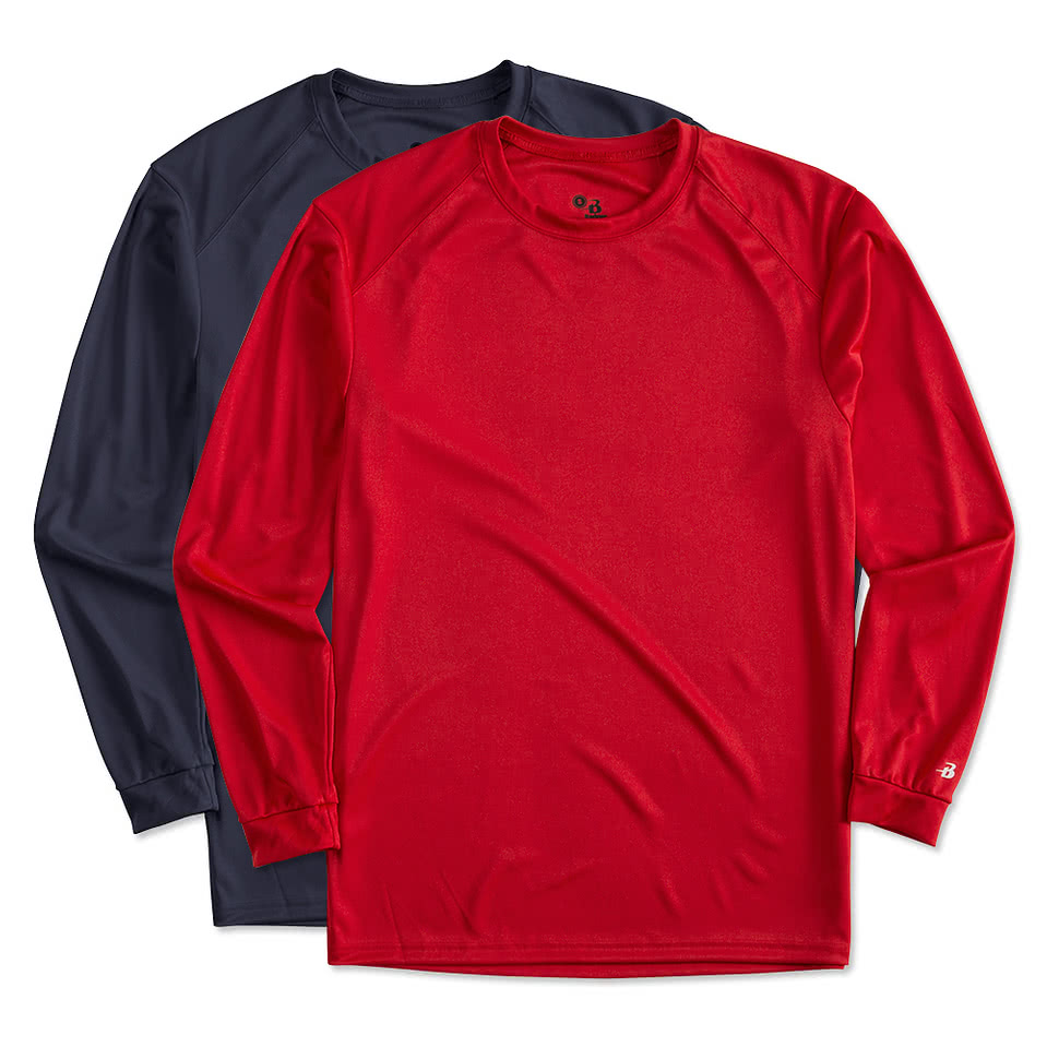School shirt design your own - Badger B Dry Long Sleeve Performance Shirt