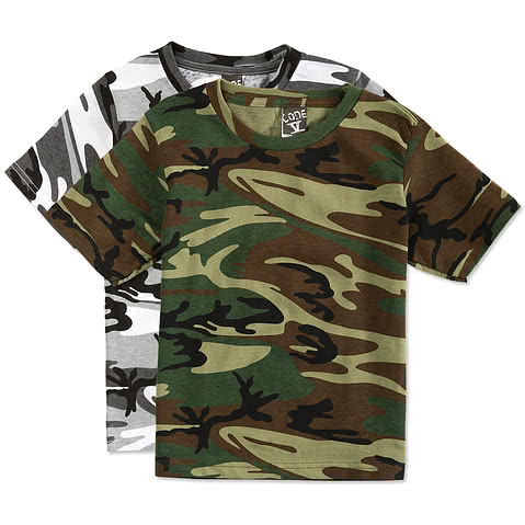 Code 5 Youth Camo T-shirt
