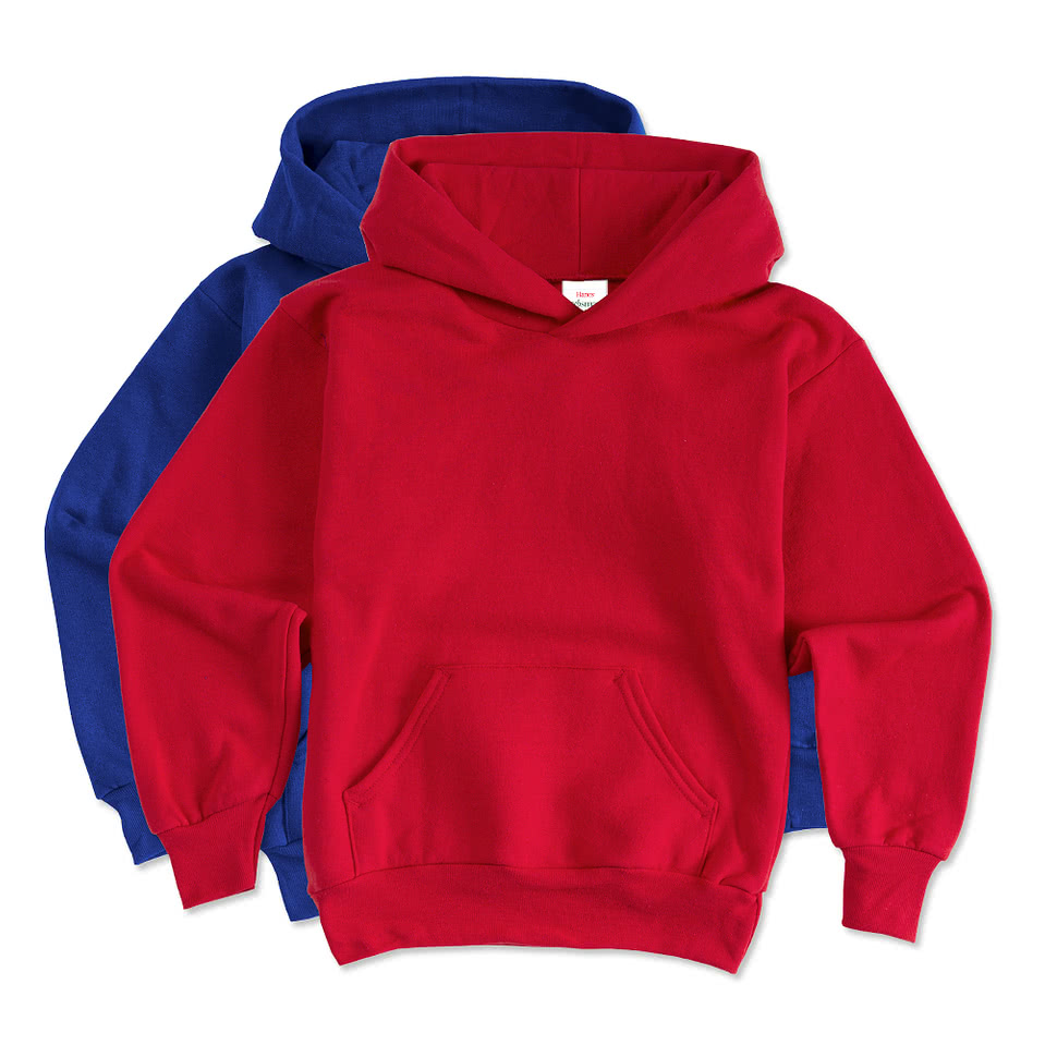 Hanes Youth EcoSmart® 50/50 Hooded Sweatshirt