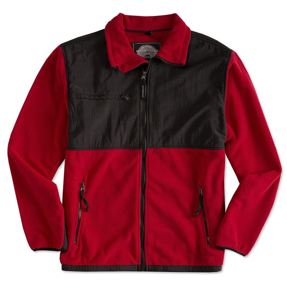 Colorblock Fleece and Nylon Jacket