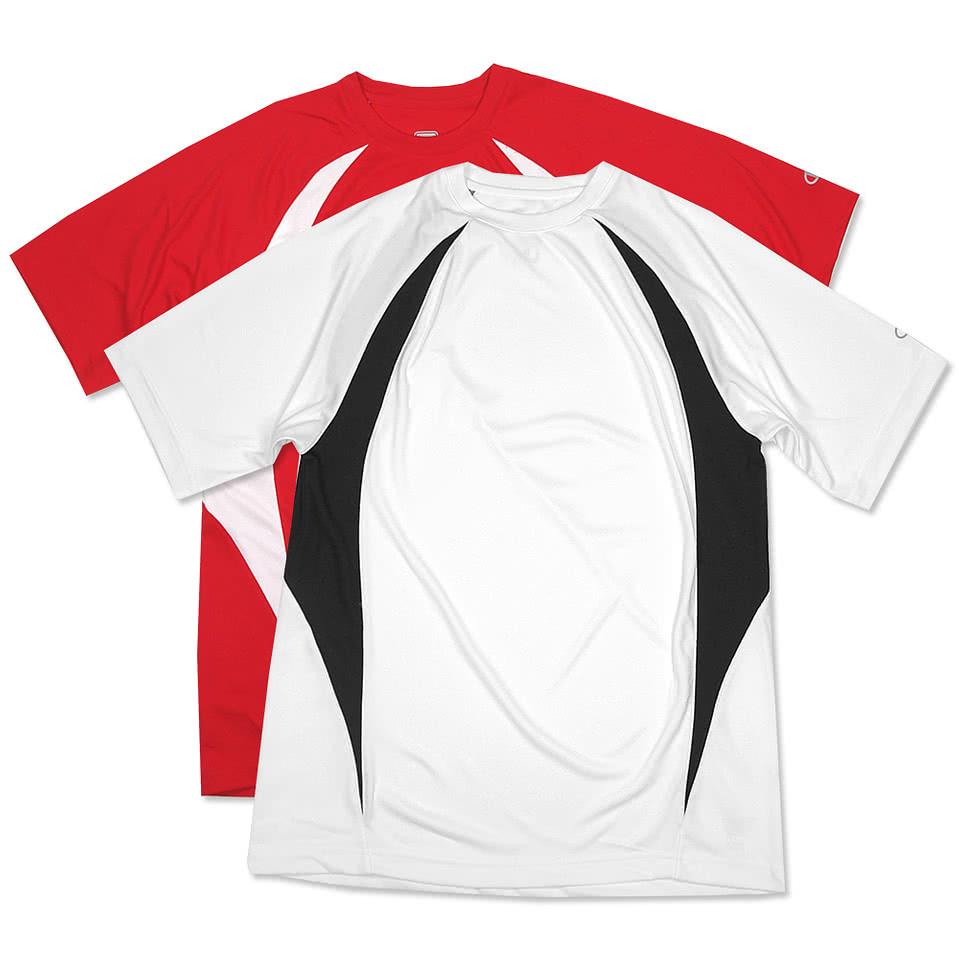 Custom champion colorblock performance shirt design Custom performance t shirts