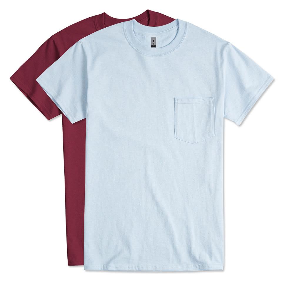 custom canada gildan ultra cotton pocket t shirt