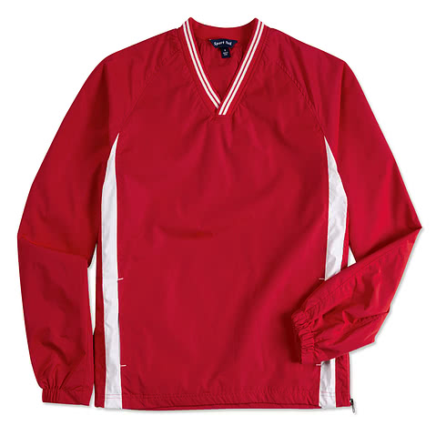 Sport-Tek Tipped V-Neck Windshirt