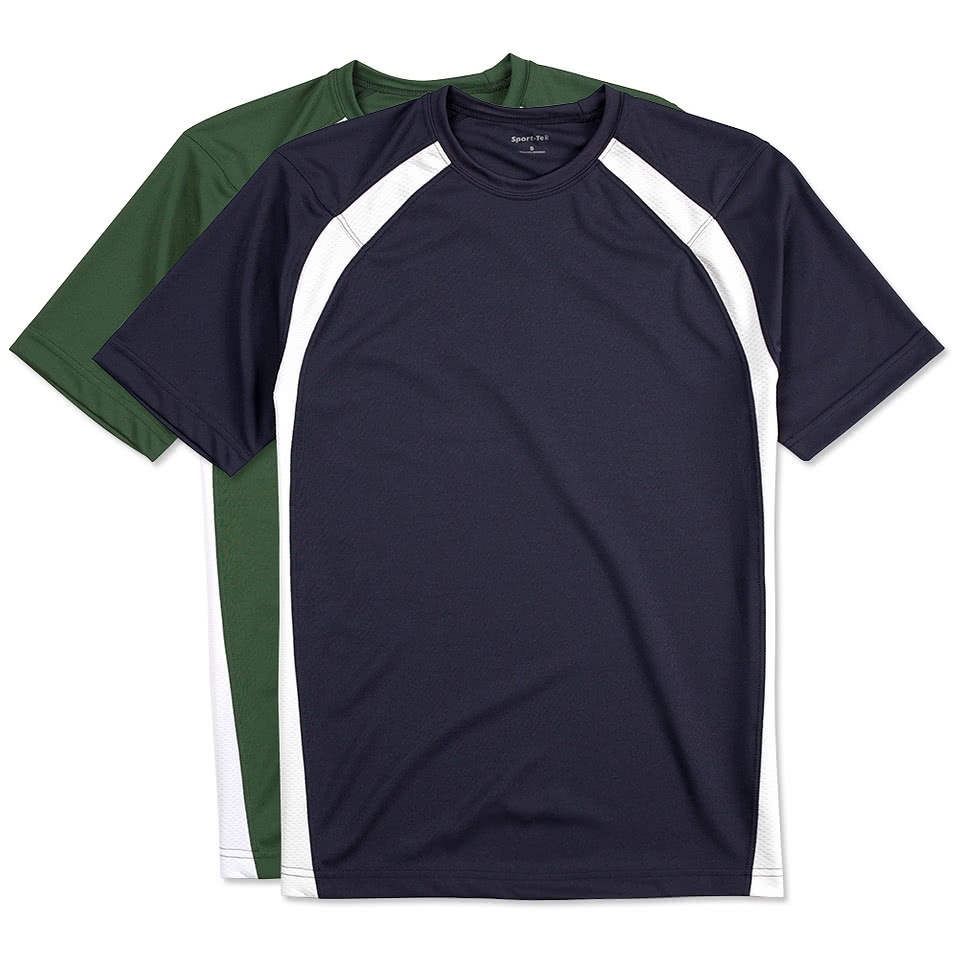 Custom sport tek colorblock performance shirt design for Custom made sport shirts