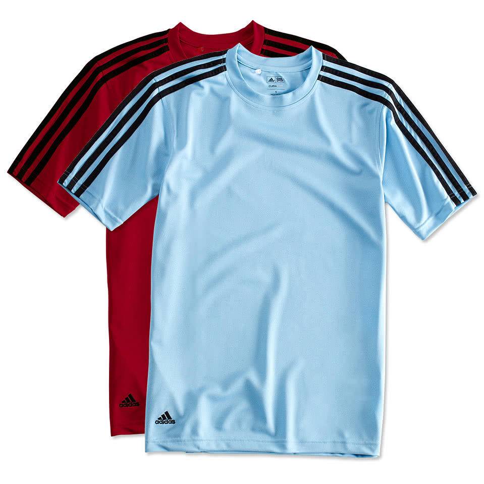 Custom adidas three stripe performance shirt design for Custom logo t shirts no minimum
