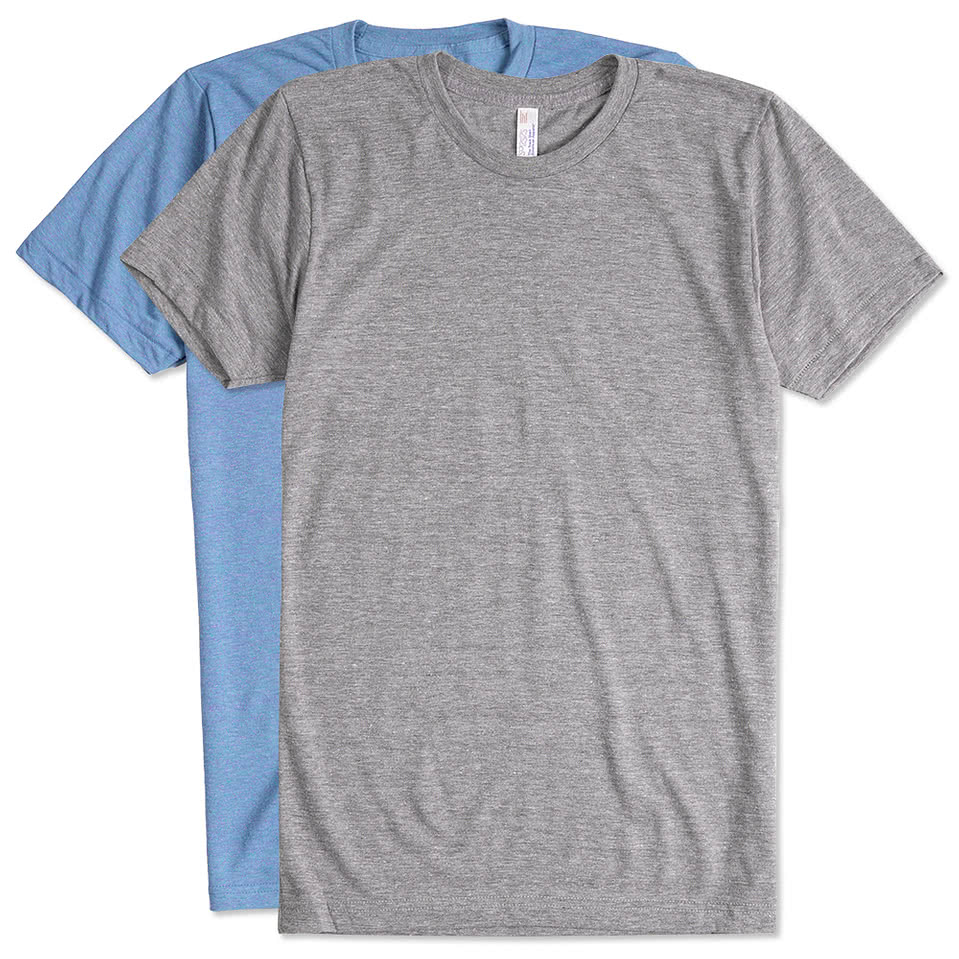 custom american apparel tri blend t shirt design short