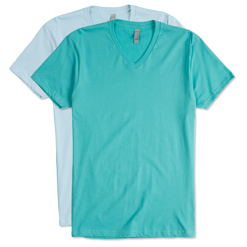 Shirt design upload - Next Level Jersey V Neck T Shirt