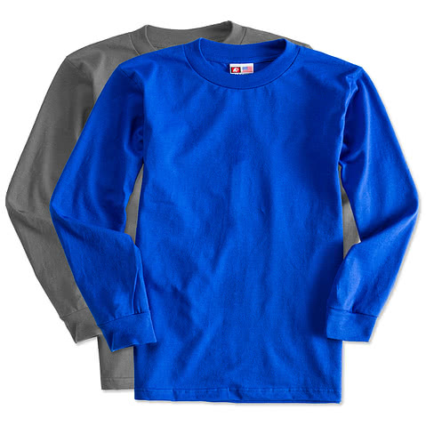 Bayside 100% Cotton Long Sleeve T-shirt