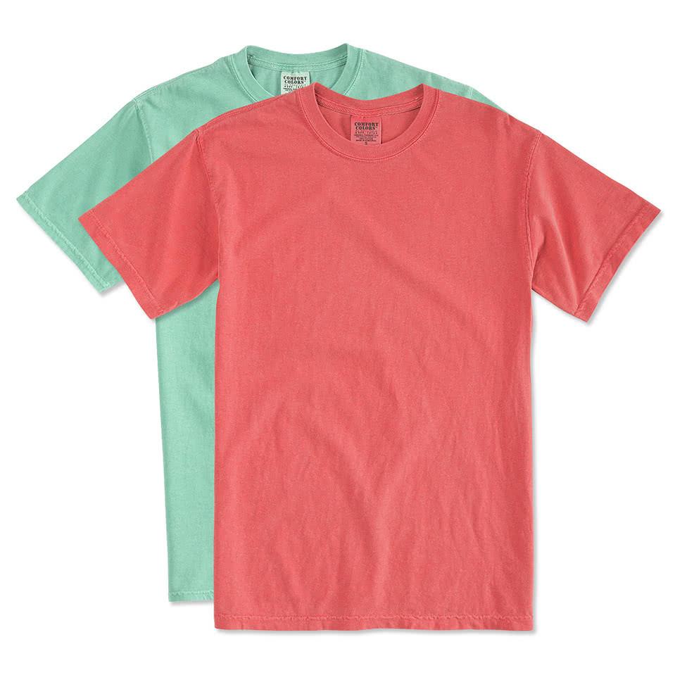 Custom comfort colors 100 cotton t shirt design short for T shirt designers near me
