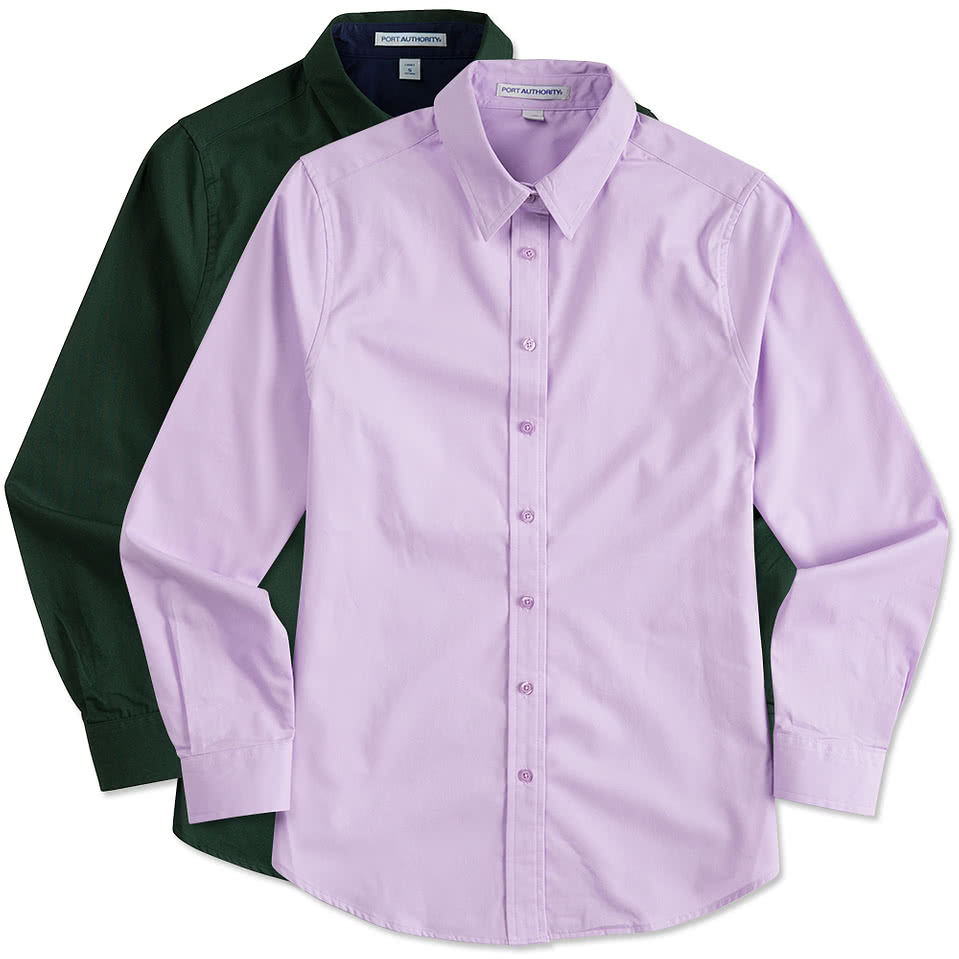 Shirt design how to - Port Authority Ladies Long Sleeve Easy Care Shirt