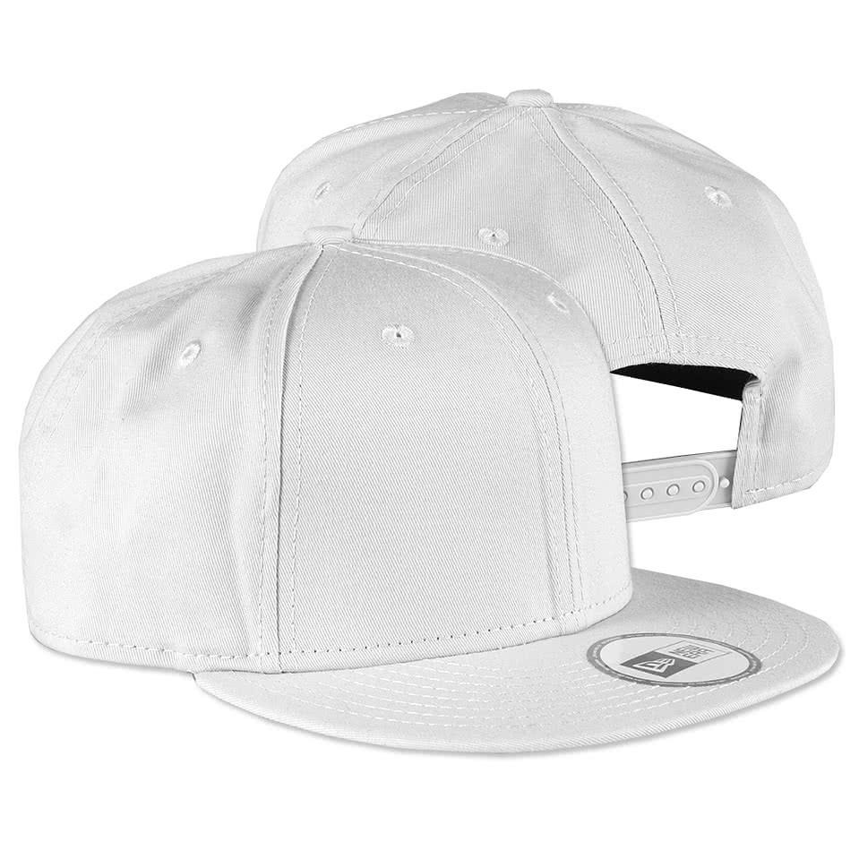 custom new era flat bill snapback hat design baseball