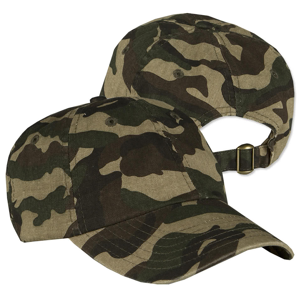 Valucap Bio-Washed Camo Hat