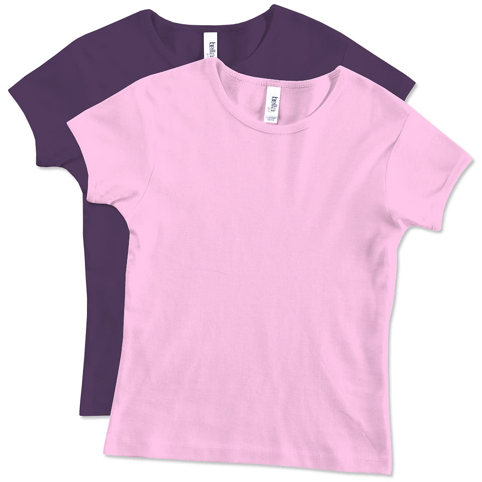 Bella Youth Girls Crewneck T-shirt