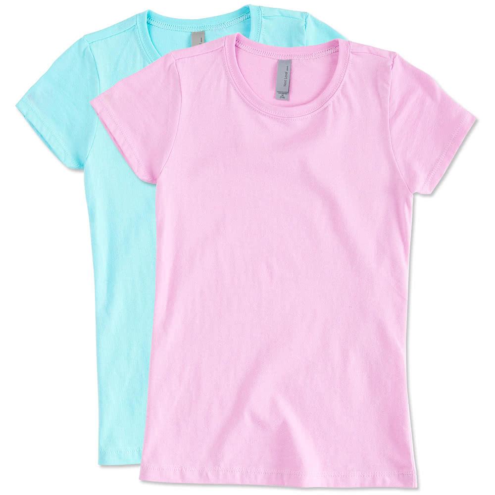 Custom Next Level Youth Girls Jersey T Shirt Design