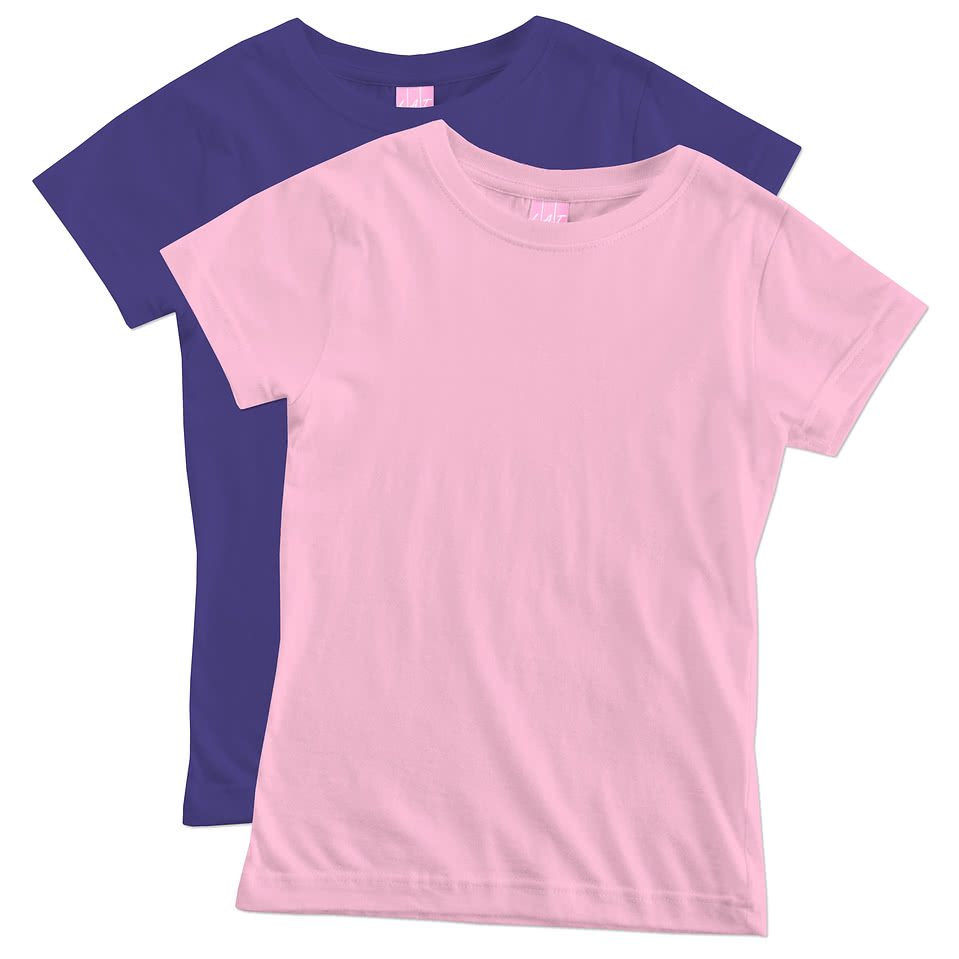 LAT Youth Girls Longer Length Jersey T-shirt