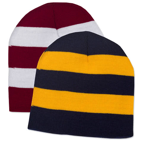 Sportsman Rugby Striped Knit Hat