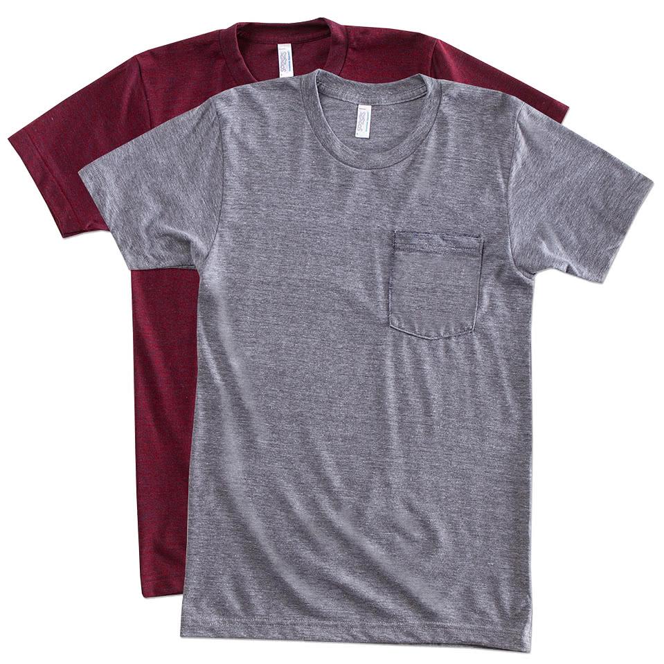 American Apparel Tri-Blend Pocket T-shirt