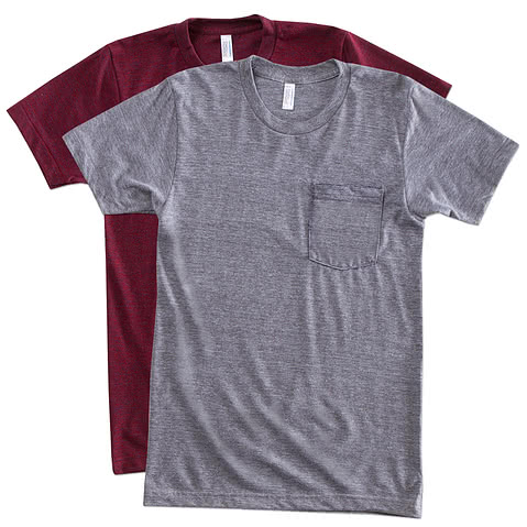 American Apparel Tri-Blend Pocket T-shirt