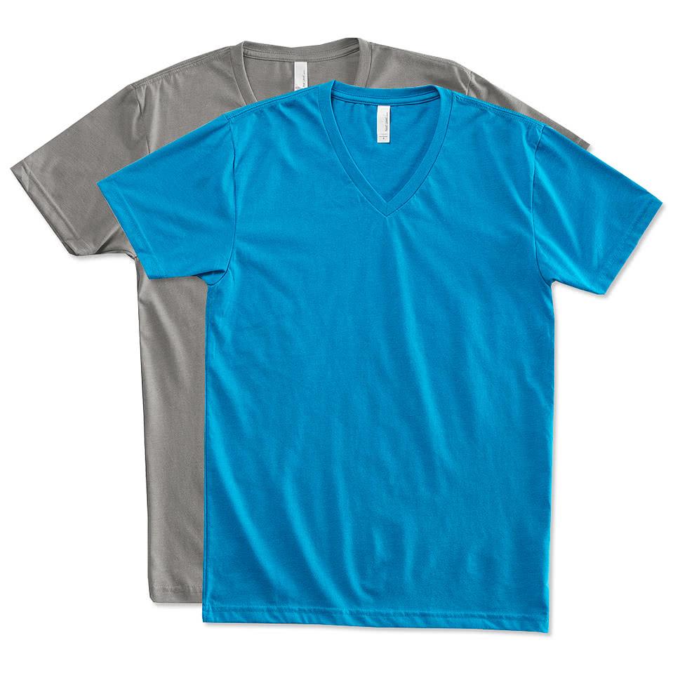 Custom Next Level 60 40 V Neck T Shirt Design Short