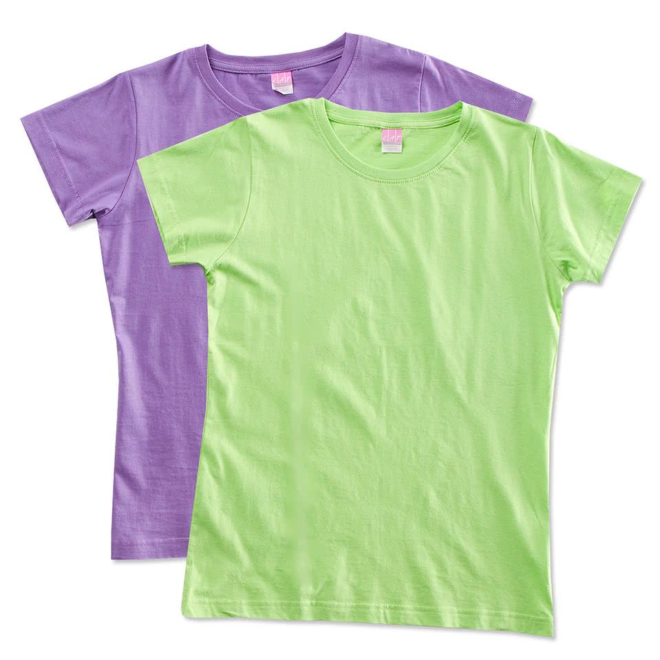 LAT Ladies Longer Length Jersey T-shirt