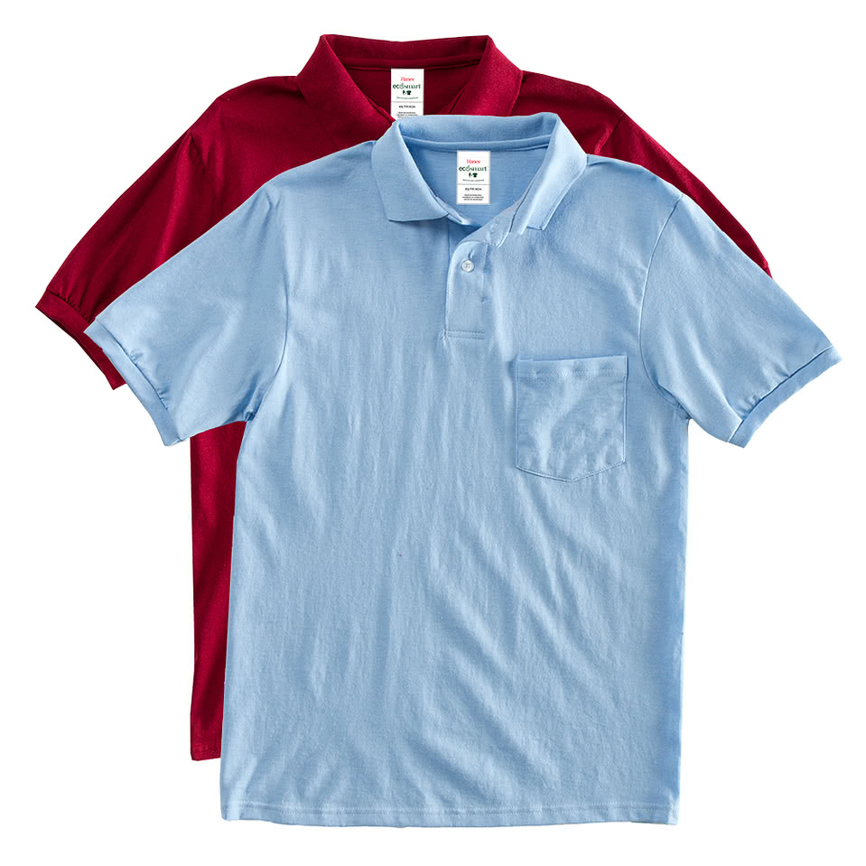 Hanes 50/50 Jersey Pocket Polo