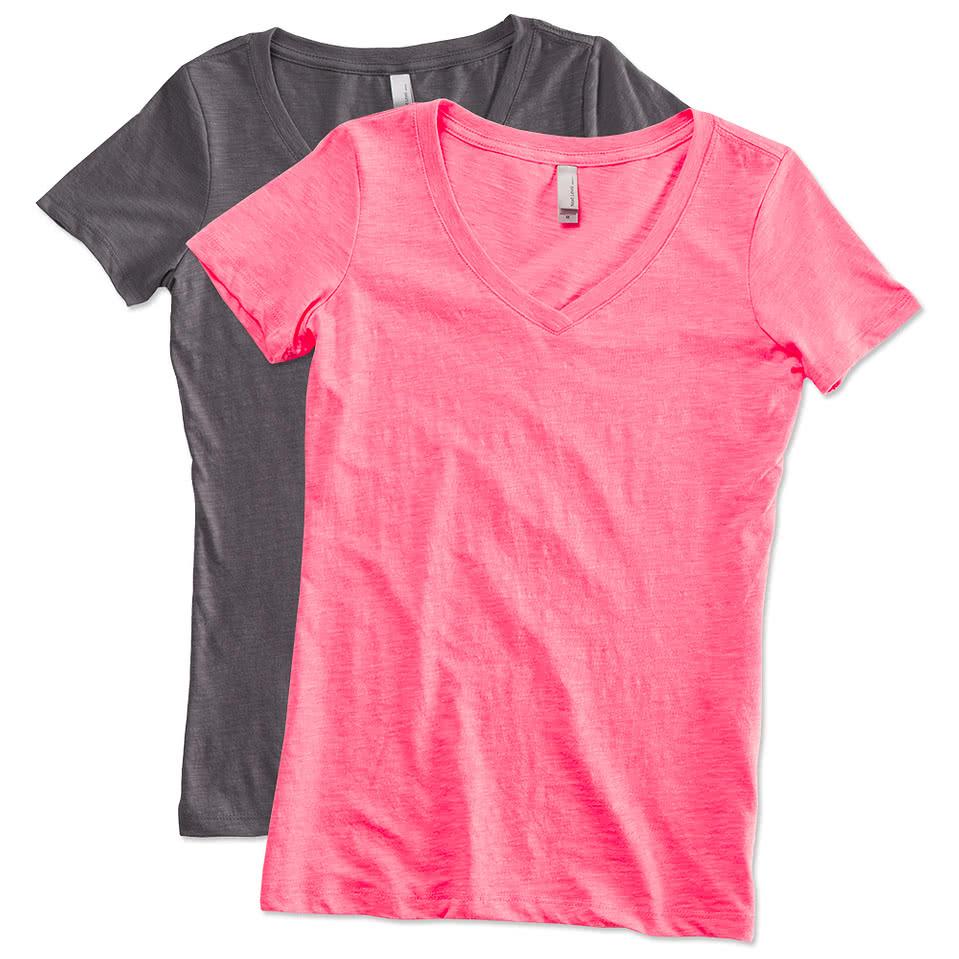 Next Level Juniors Slub V-Neck T-shirt