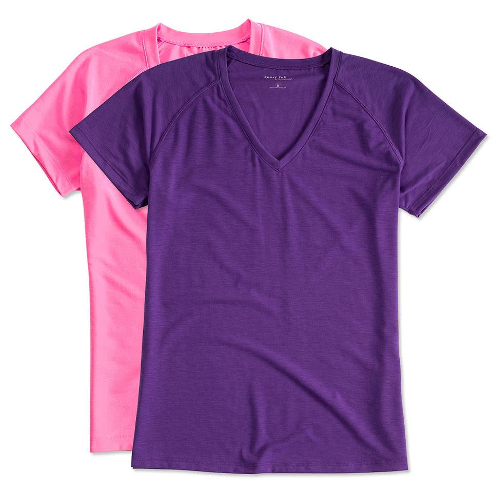 Shirt design online australia - Sport Tek Ladies Ultimate V Neck Performance Shirt