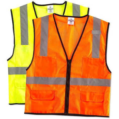 Kishigo Class 2 Pocket Mesh Safety Vest