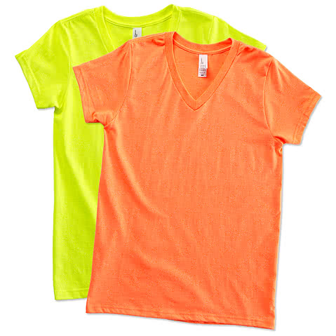 District Juniors Neon V-Neck T-shirt