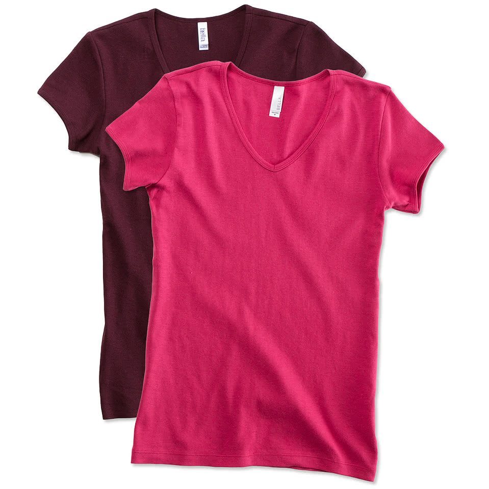 Canada - Bella Juniors V-Neck T-shirt