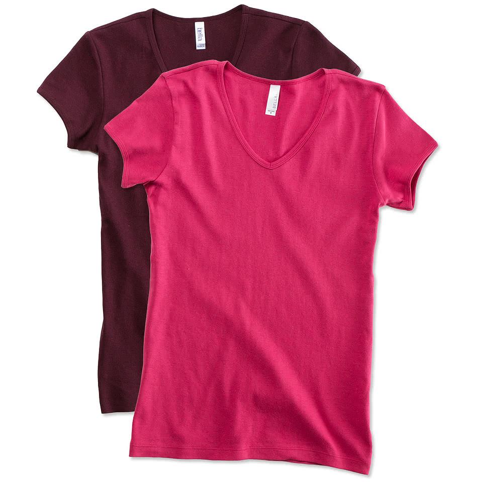 Canada - Bella Juniors V-Neck T-shirt